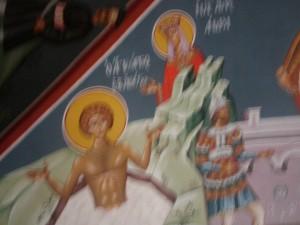 Η αγία Αλεξάνδρα και ο άγιος Γεώργιος