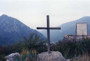 Ο Σταυρός στο χώρο της θυσίας