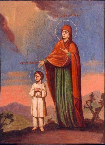 Αποτέλεσμα εικόνας για αγιοι κηρυκος και ιουλιττα