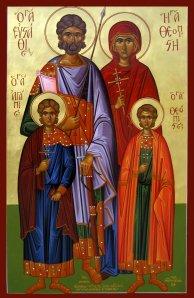 Μια αγιασμένη οικογένεια:οι Άγιοι Ευστάθιος, Θεοπίστη και τα τέκνα τους Αγάπιος και Θεόπιστος