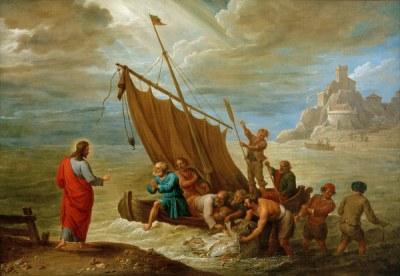 D.Teniers d.J., Der wunderbare Fischzug -  - D. Teniers le Jeune / 'La Peche miracule