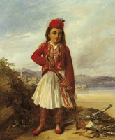 Alexandre M. Colin (1798-1873) - Ελληνόπουλο. Ελαιογραφία, 1829-30. 0,44 x 0,38 μ.