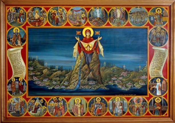 Αγιογραφήθηκε απο την Κυρία Ειρήνη Φίλη- από: agiotokos-kappadokia.gr