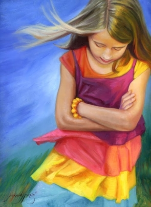 A Child's Prayer painting by artist jenedy paige dailypainters.com
