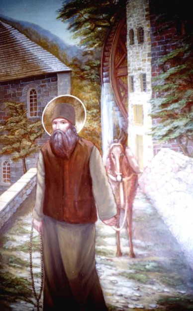 Ο άγιος Σιλουανός συνομιλεί με τα παιδιά...