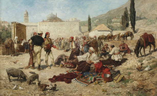 An oriental market place 1886 (Alexander Demetrius Goltz 1857-1944)