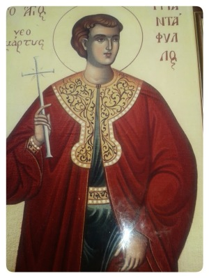 εικόνα του αγίου νεομάρτυρος Τριανταφύλλου, στο εκκλησάκι του, κοντά στην Ι. Μονή αγ. Ιωάννου Προδρόμου, Μεταμόρφωση Χαλκιδικής
