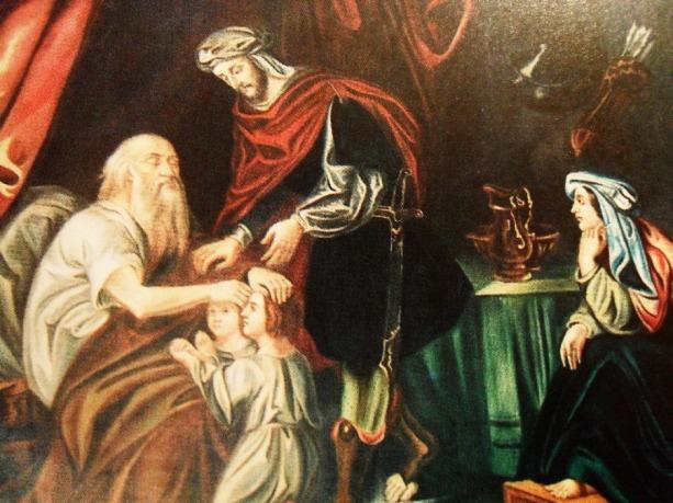 πίνακας ζωγρραφικής του Γαζή Σπυρίδωνα-Η Ευλογία του Ιακώβ