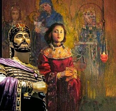 Αποτέλεσμα εικόνας για Οι δύο σύζυγοι του τελευταίου αυτοκράτορα Κωνσταντίνου ΙΑ΄ Παλαιολόγου